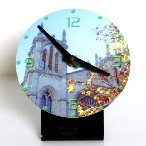 Reloj sobremesa redondo